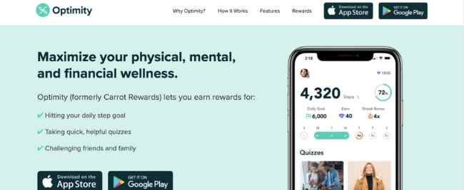 Optimity Apps that pay you to walk